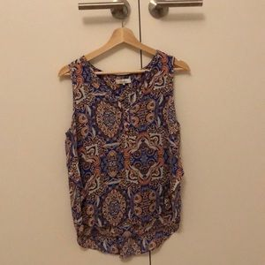 Parker paisley high-low silk top, Size xs.